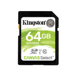 Карта памяти Kingston SDXC 64Gb Class 10 Canvas Select UHS-I U1 80Mb/s